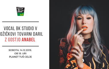 Vocal BK Studio v Božičkovi tovarni daril z gostjo Anabel