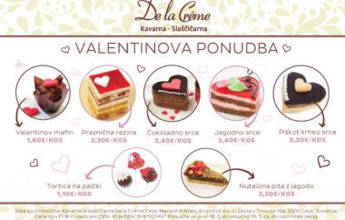 Valentinova ponudba De la Crême