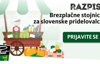Razpis za brezplačne stojnice za slovenske pridelovalce v Planetu Tuš Celje